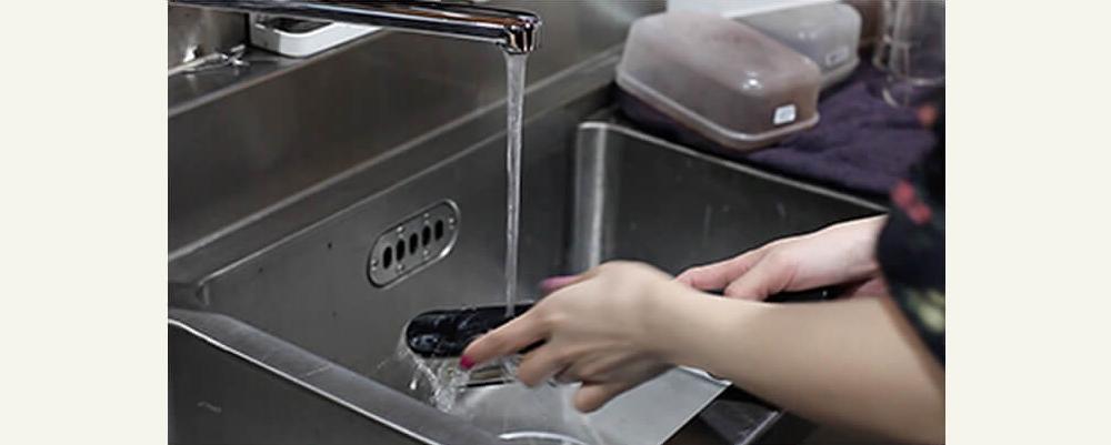 ケアプロアイロンの洗い方