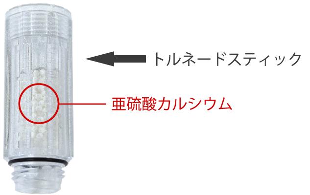ミラブルプラスのトルネードスティック塩素除去機能